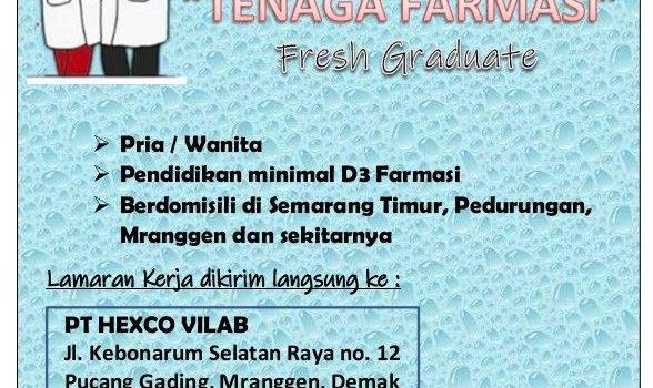 Loker Tenaga Farmasi PT HEXCO VILAB